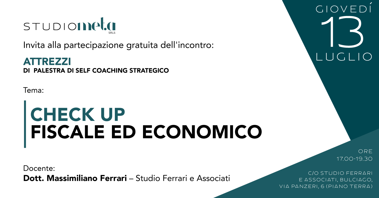 [ ATTREZZI ] Check up fiscale ed economico
